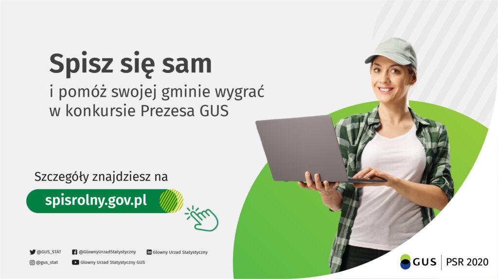Plakat spisu rolnego - Spisz się sam